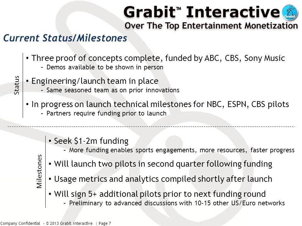 Company Confidential – © 2013 Grabit Interactive | Page 8