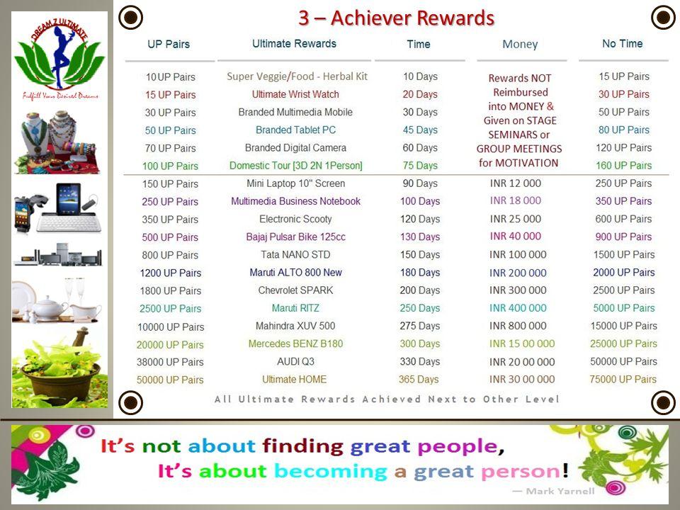 3 – Achiever Rewards