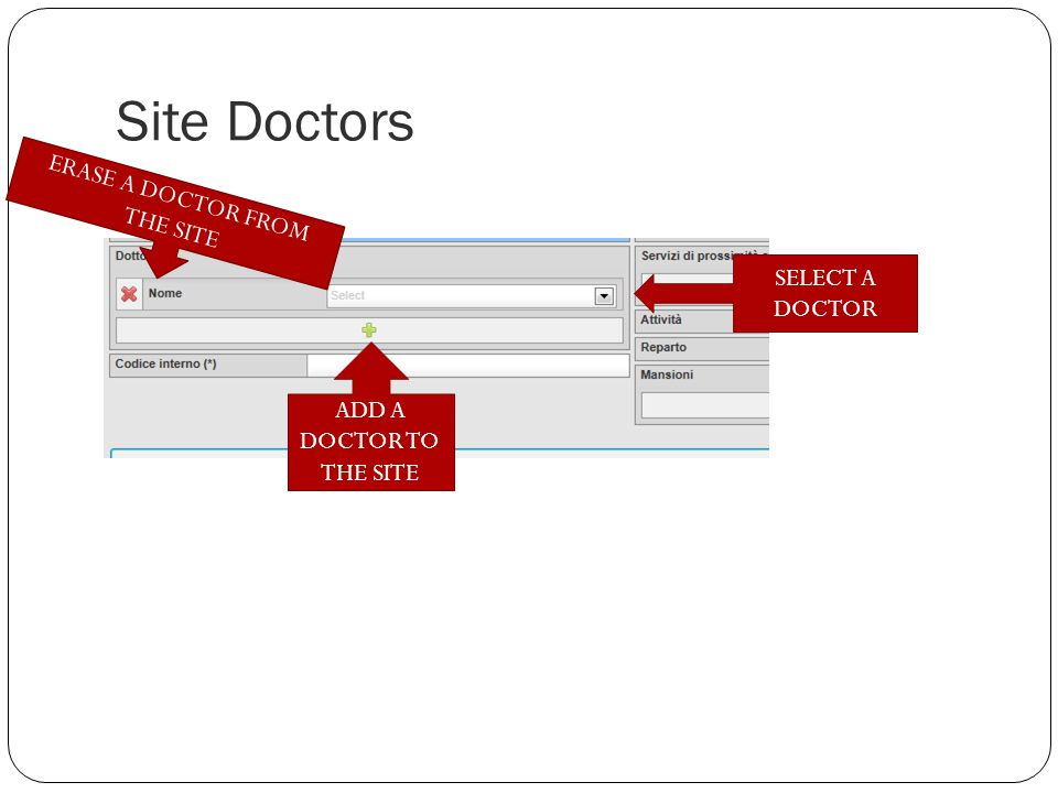 Site YOU CAN ASSINGN ONE OR MORE PROXIMITY HEALTH SERVICE TO THE SITE
