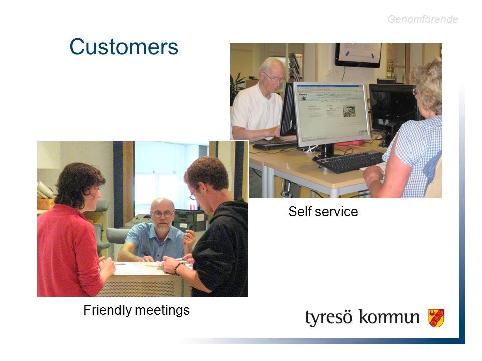Customers Friendly meetings Self service Genomförande