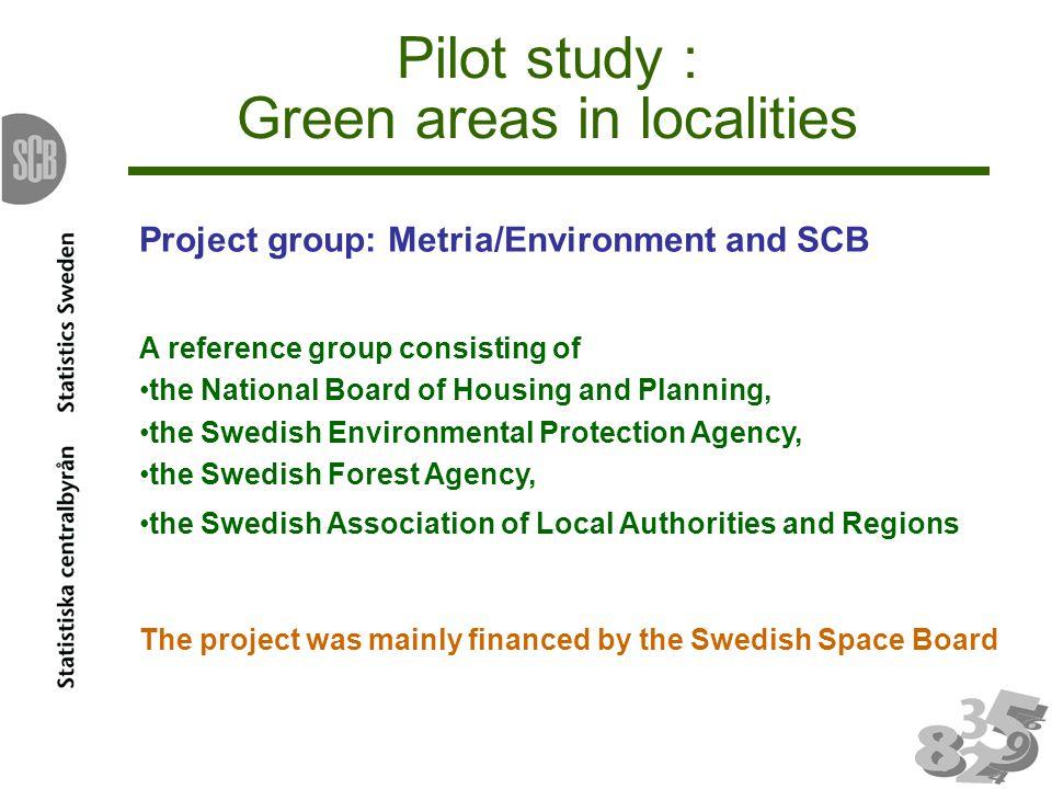 Green areas to non green areas