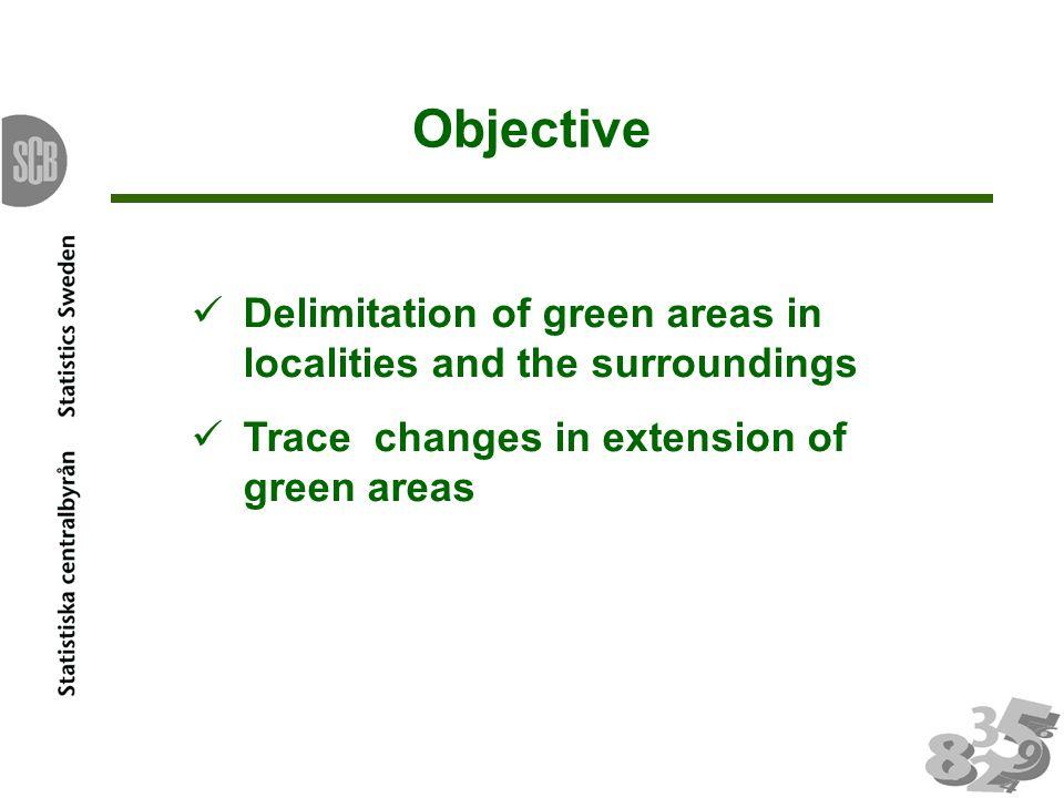 Non green areas to green areas