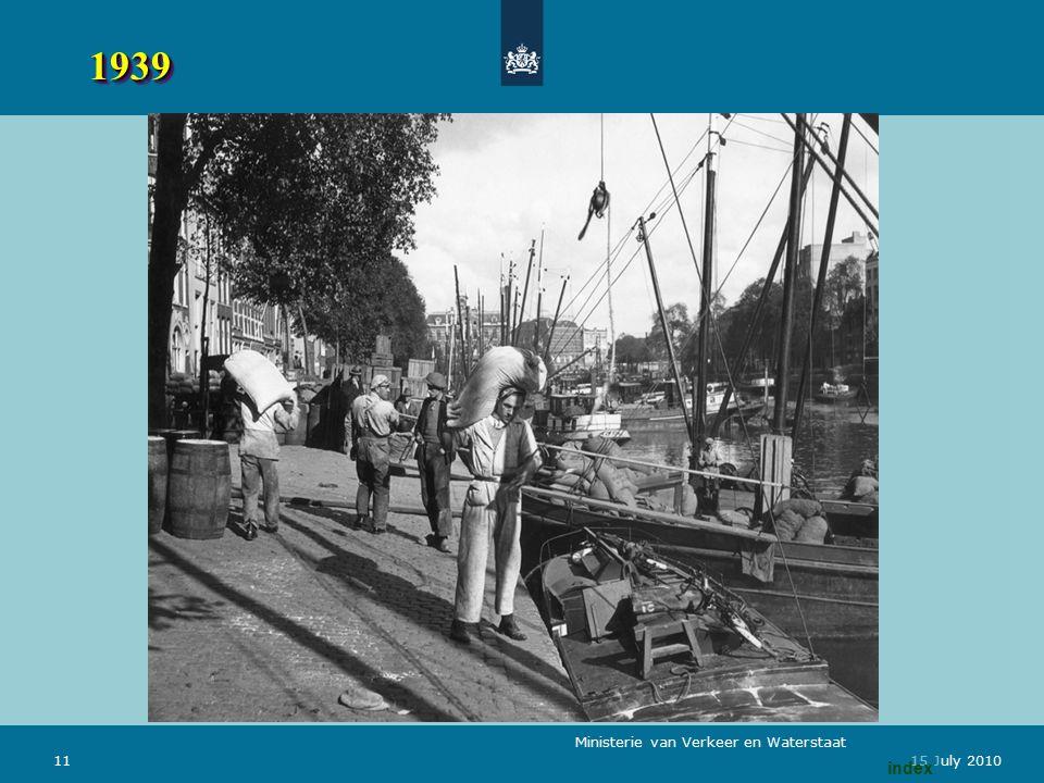 Ministerie van Verkeer en Waterstaat 1115 July 2010 19391939 index