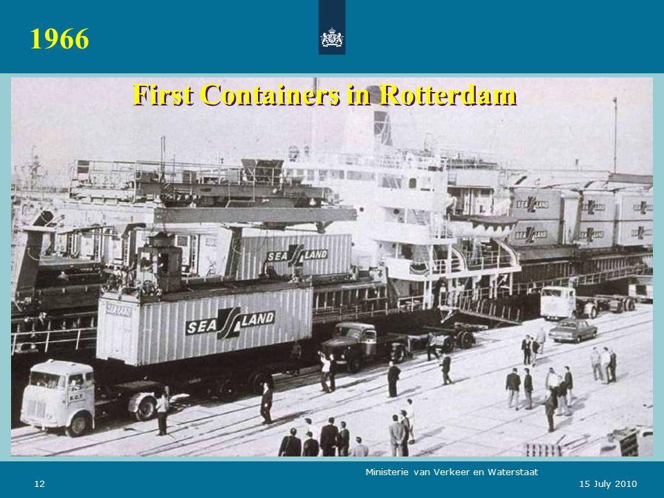Ministerie van Verkeer en Waterstaat 1215 July 2010 First Containers in Rotterdam 1966