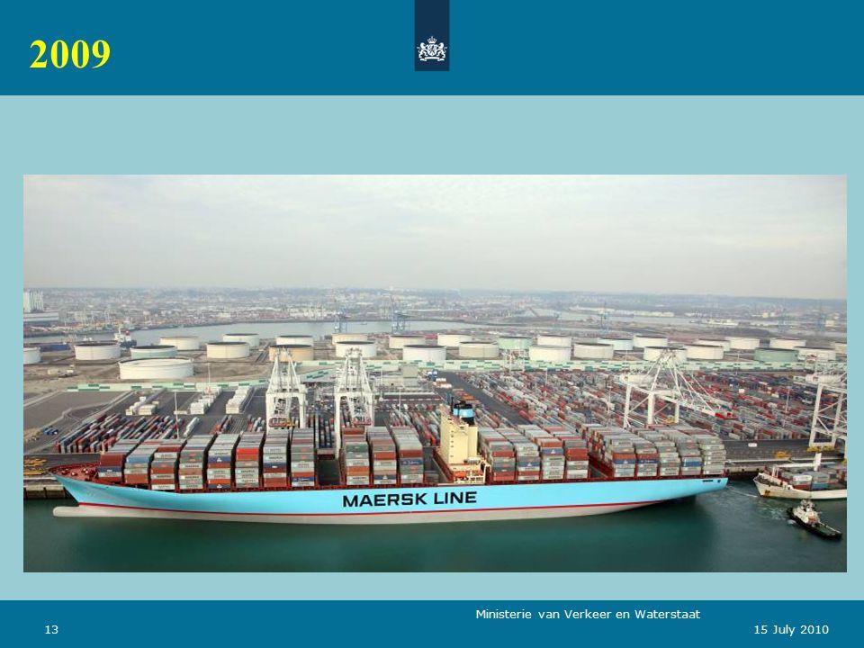 Ministerie van Verkeer en Waterstaat 1315 July 2010 2009