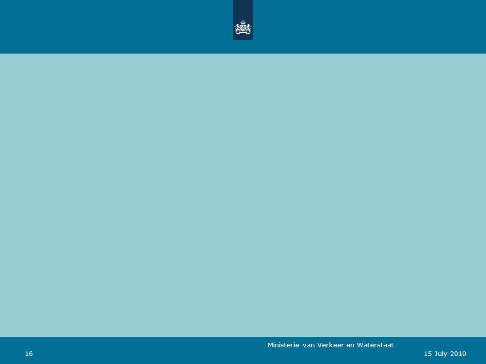 Ministerie van Verkeer en Waterstaat 1615 July 2010