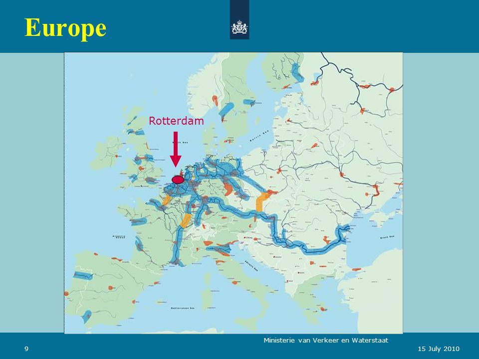 Ministerie van Verkeer en Waterstaat 915 July 2010 Europe Rotterdam