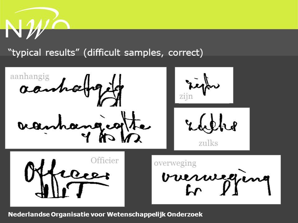 Nederlandse Organisatie voor Wetenschappelijk Onderzoek typical results (difficult samples, correct) aanhangig Officier overweging zijn zulks