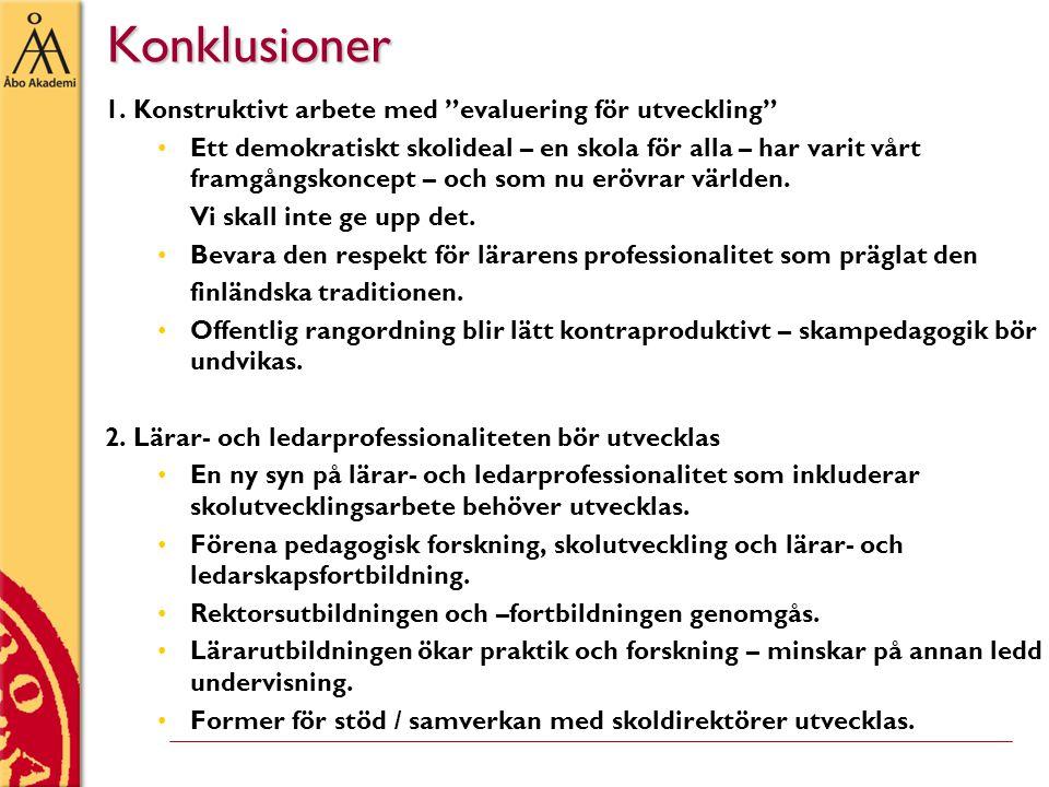Konklusioner Konklusioner 1.