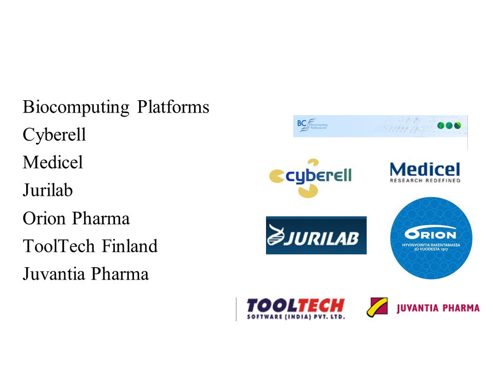 Biocomputing Platforms Cyberell Medicel Jurilab Orion Pharma ToolTech Finland Juvantia Pharma