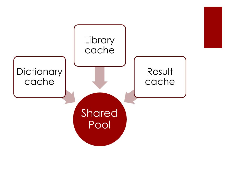 Shared Pool Dictionary cache Result cache Library cache