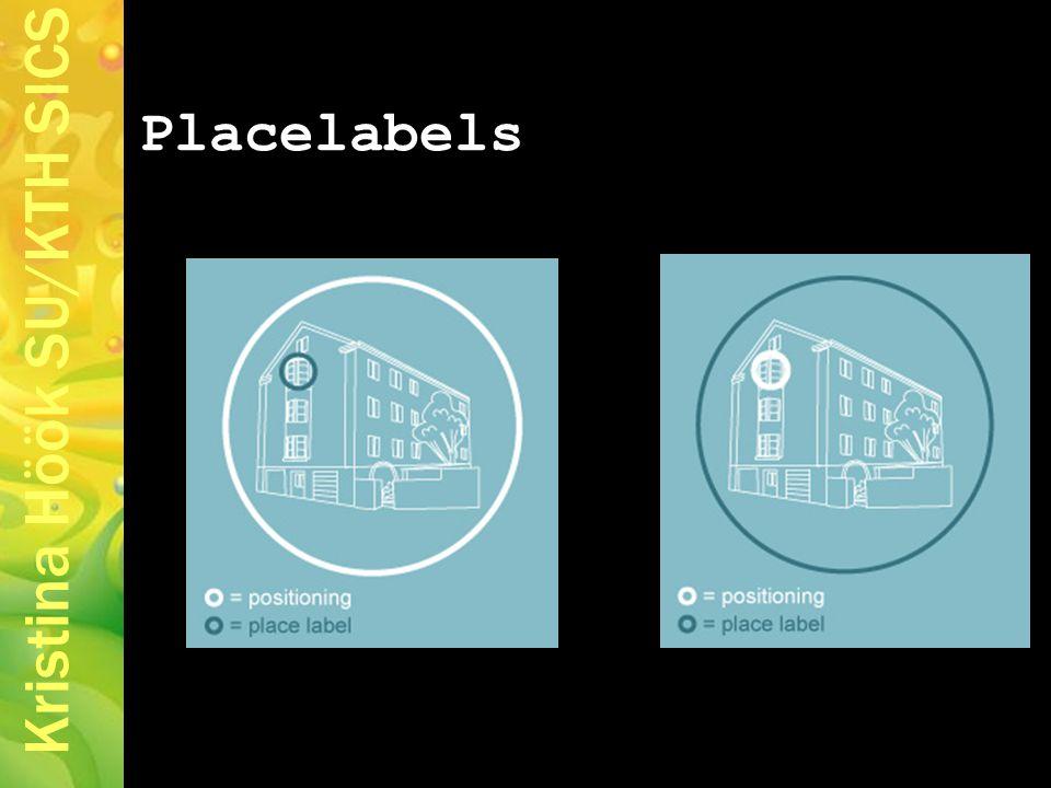 Kristina Höök SU/KTH SICS Placelabels