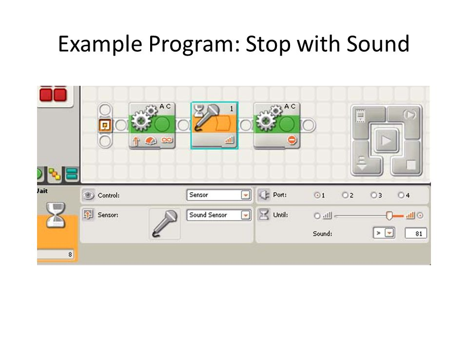 Example Program: Stop with Sound
