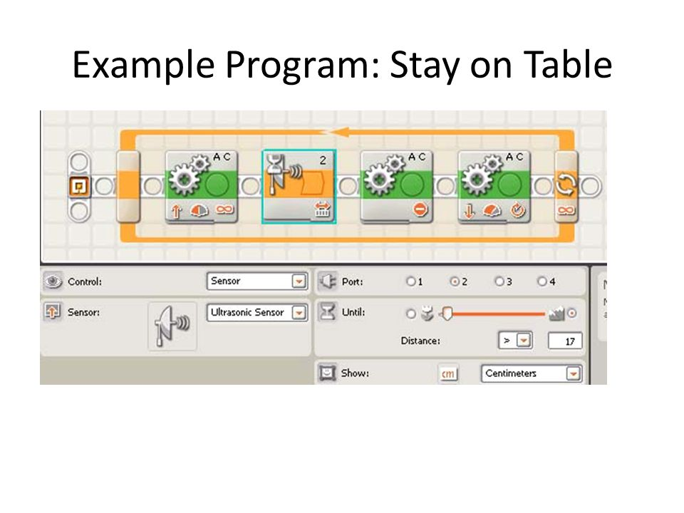 Example Program: Stay on Table