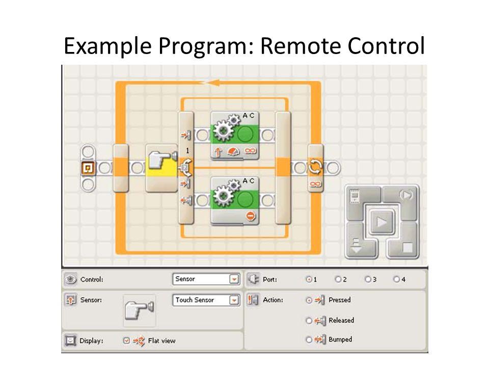 Example Program: Remote Control