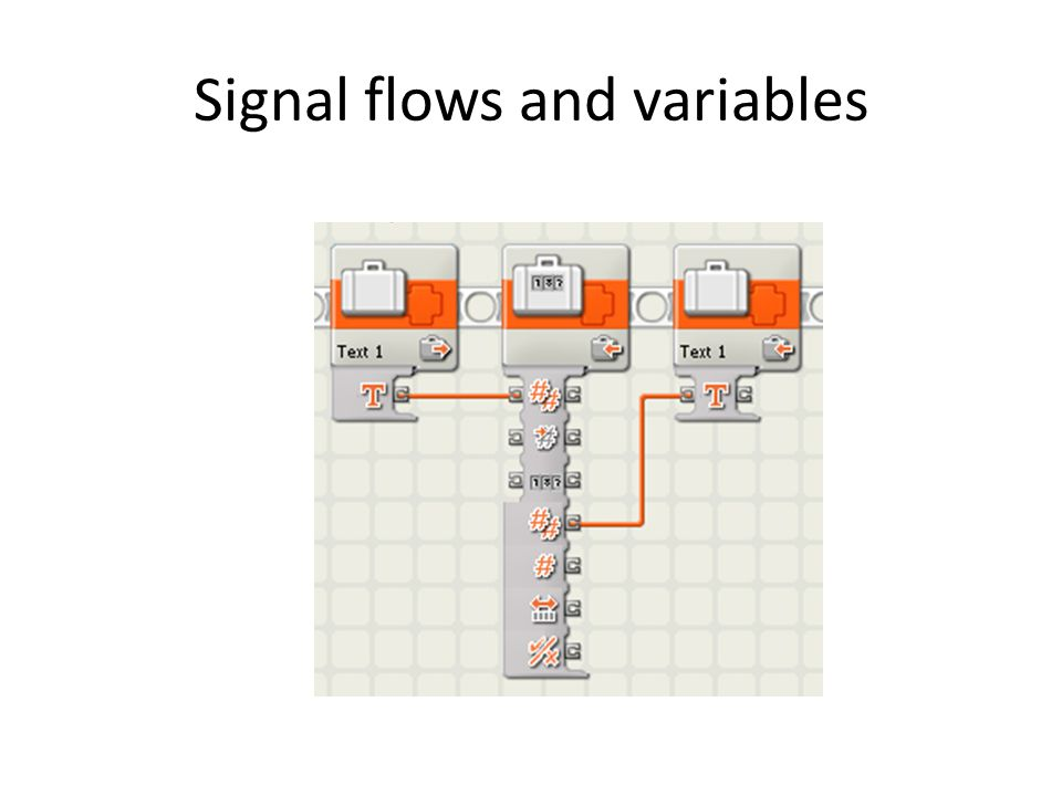 Signal flows and variables