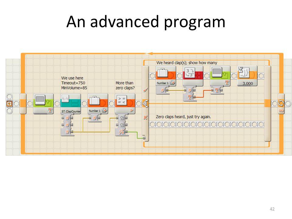 42 An advanced program