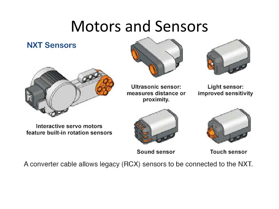 7 Built-in rotation sensors ( servo ) NXT Motors