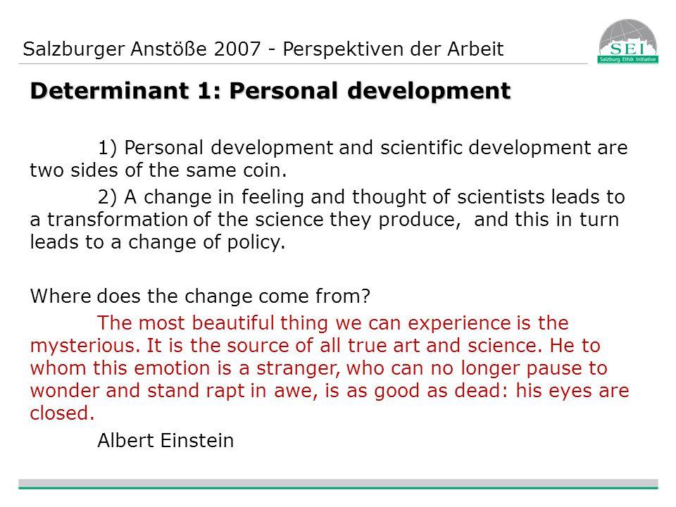 Salzburger Anstöße 2007 - Perspektiven der Arbeit Technology based networks - how to do.