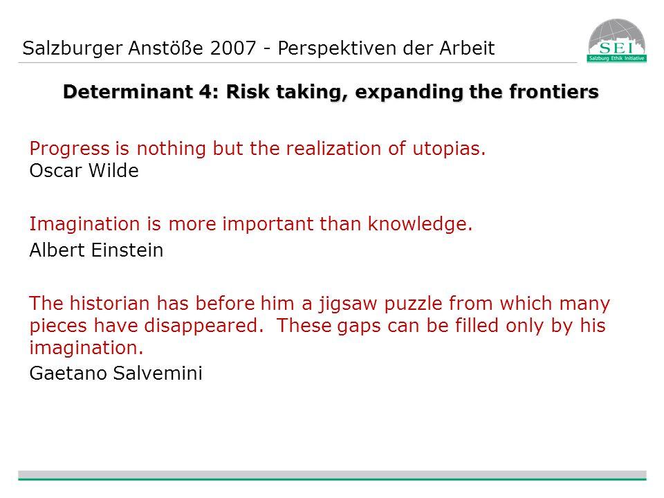 Salzburger Anstöße 2007 - Perspektiven der Arbeit WORKSHOP HIGHLIGHTS