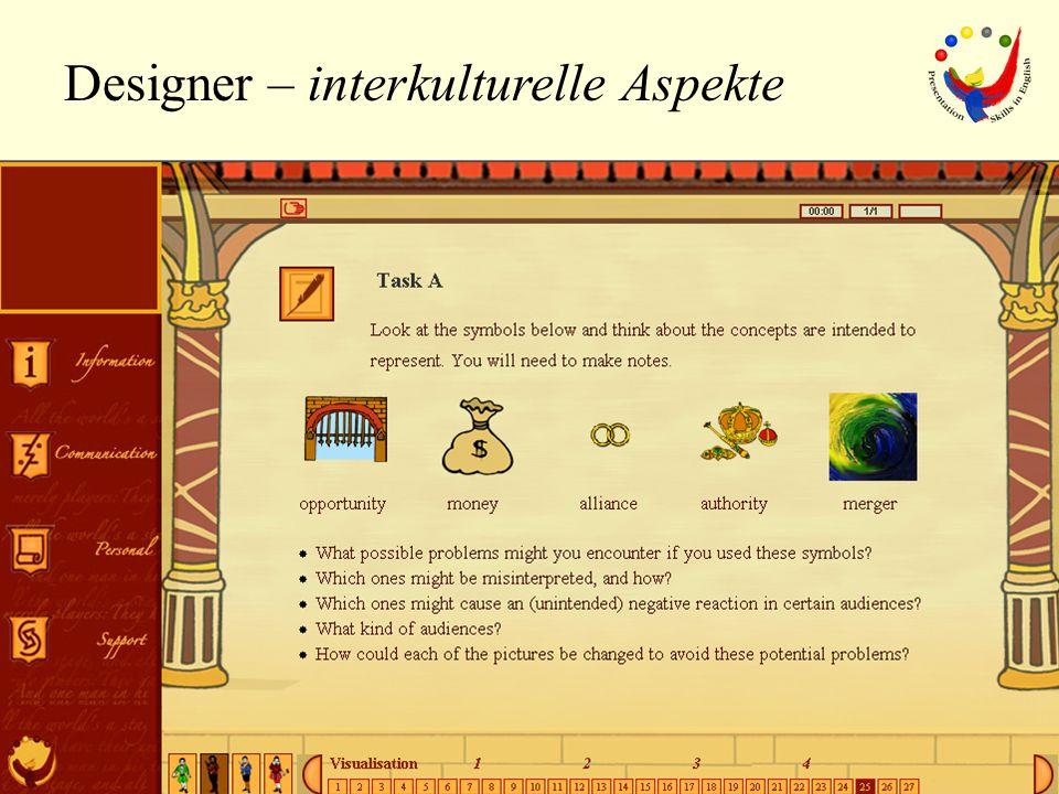 Designer – interkulturelle Aspekte symbols