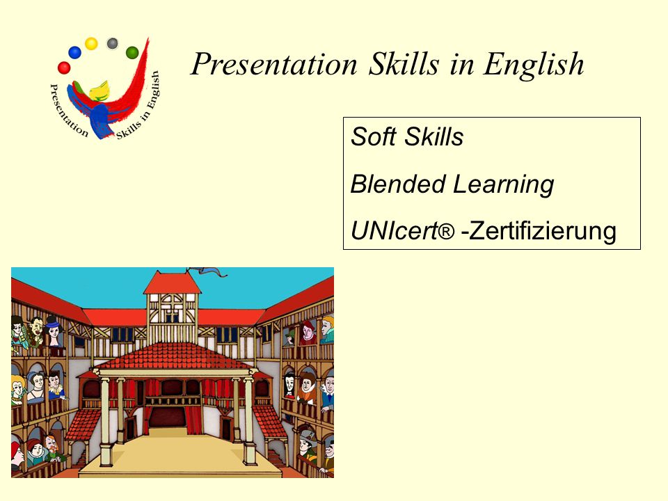 Presentation Skills in English Soft Skills Blended Learning UNIcert ® -Zertifizierung