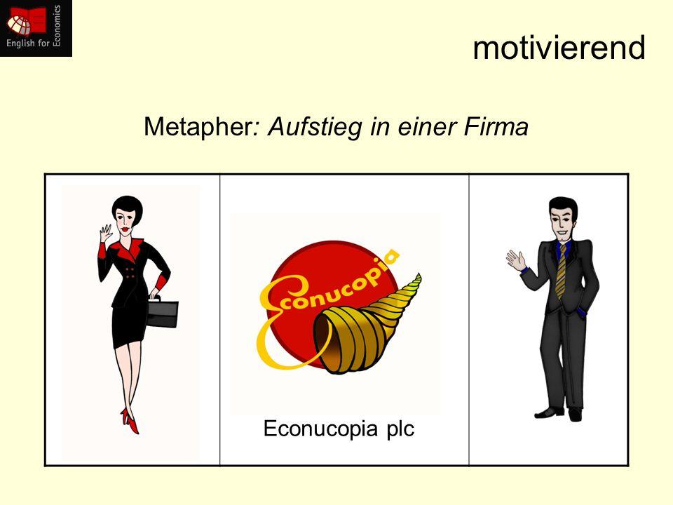 motivierend Econucopia plc Metapher: Aufstieg in einer Firma
