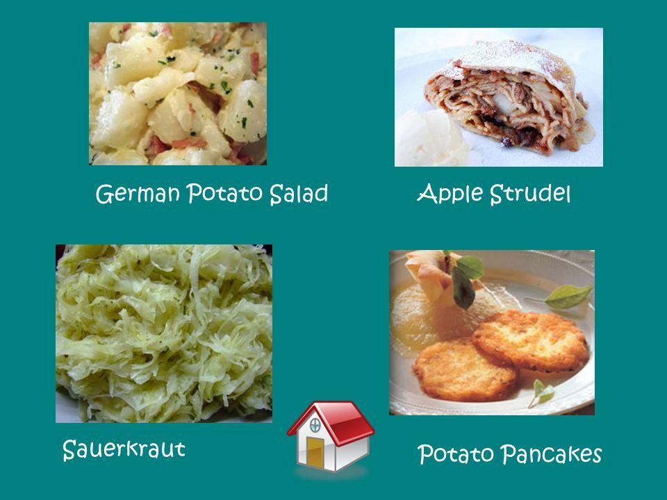 Potato Pancakes German Potato SaladApple Strudel Sauerkraut