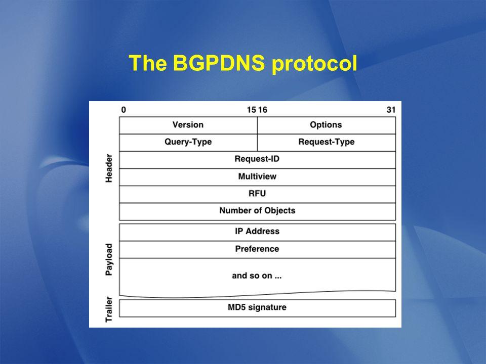 The BGPDNS protocol