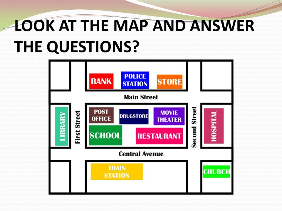 LOOK AT THE MAP AND ANSWER THE QUESTIONS