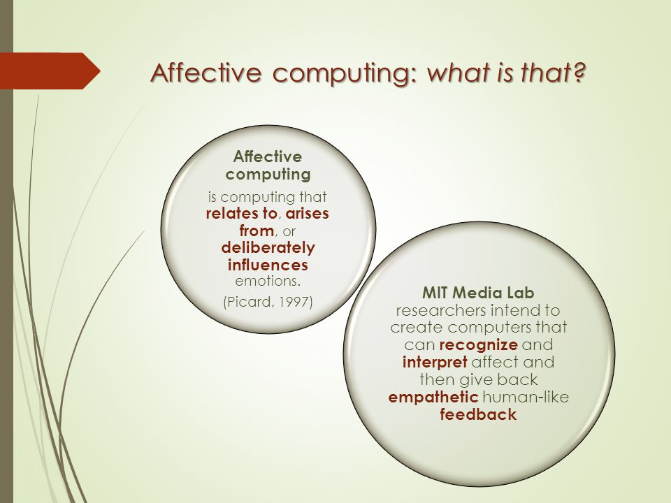 Affective computing: what is that.