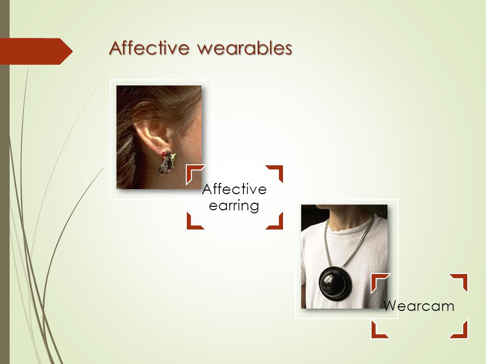 Affective wearables Wearcam Affective earring