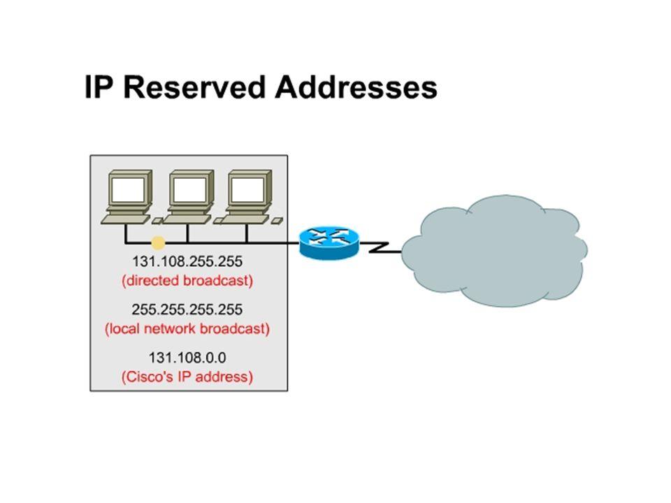 Speciale adressen Loopbackadres 127.0.0.1 netwerkadres 192.168.0.0 eindigt met 0 broadcastadres 192.168.0.255 eindigt met 255