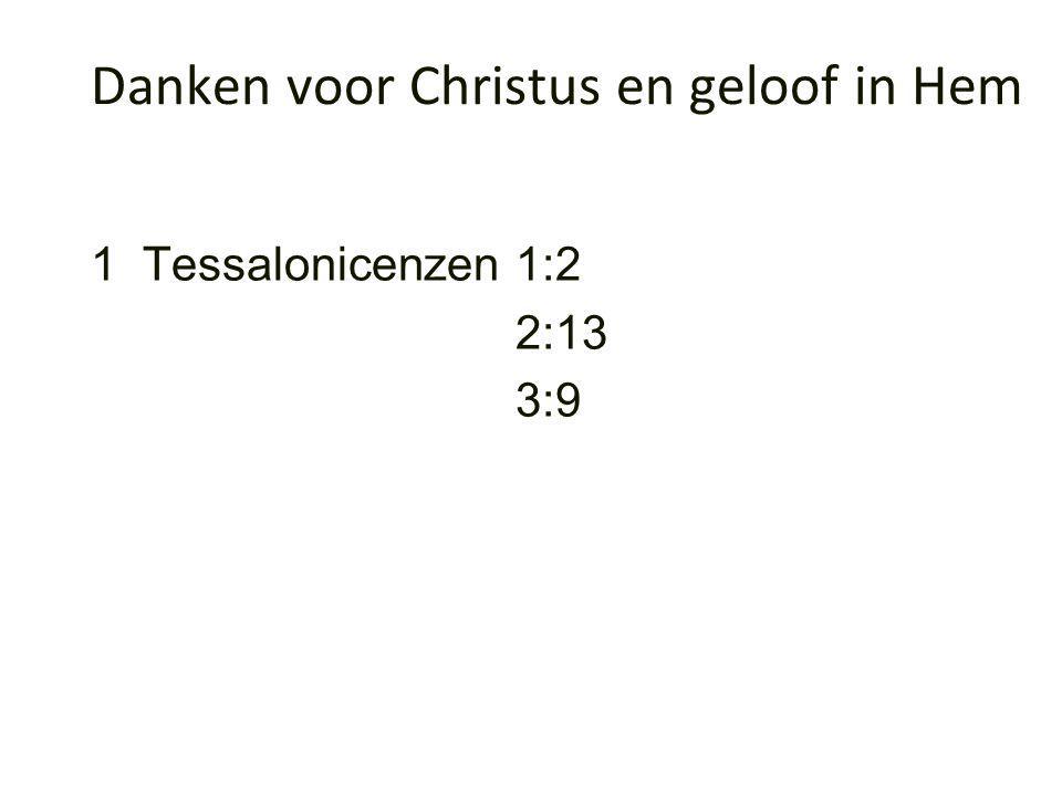 1 Tessalonicenzen1:2 2:13 3:9