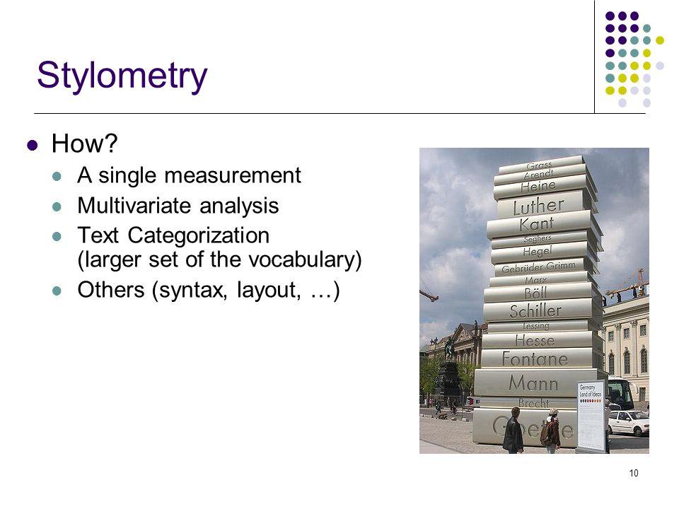 10 Stylometry How.