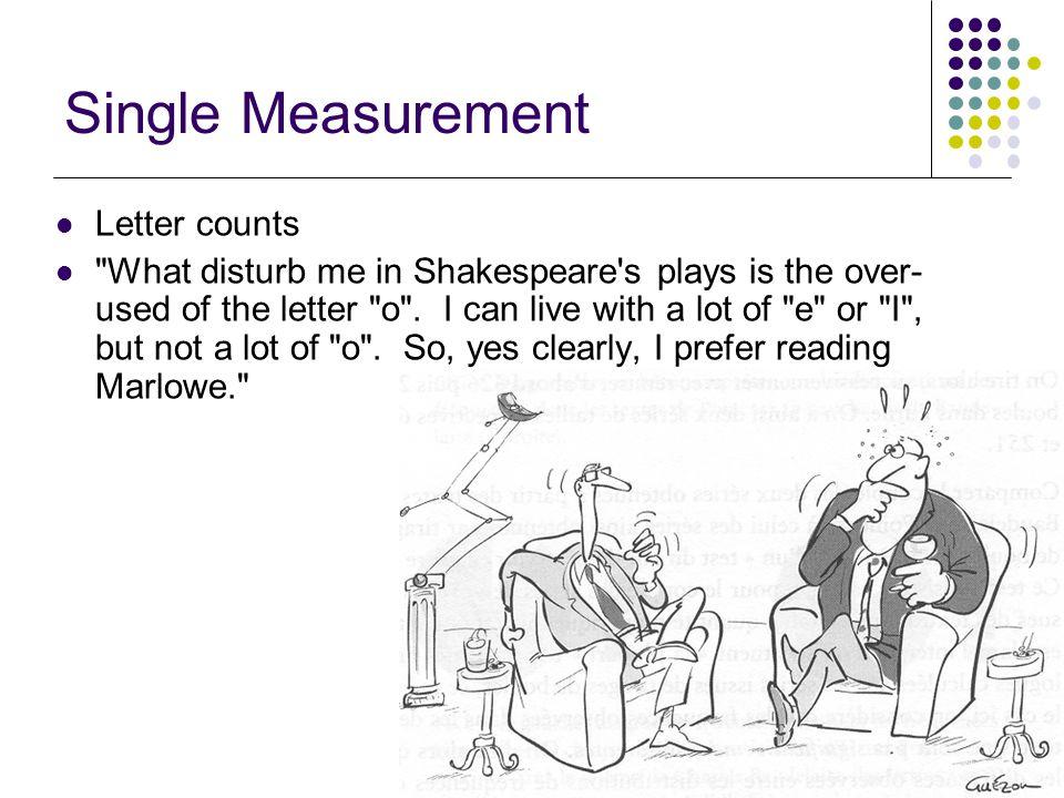 11/22 Single Measurement Letter counts
