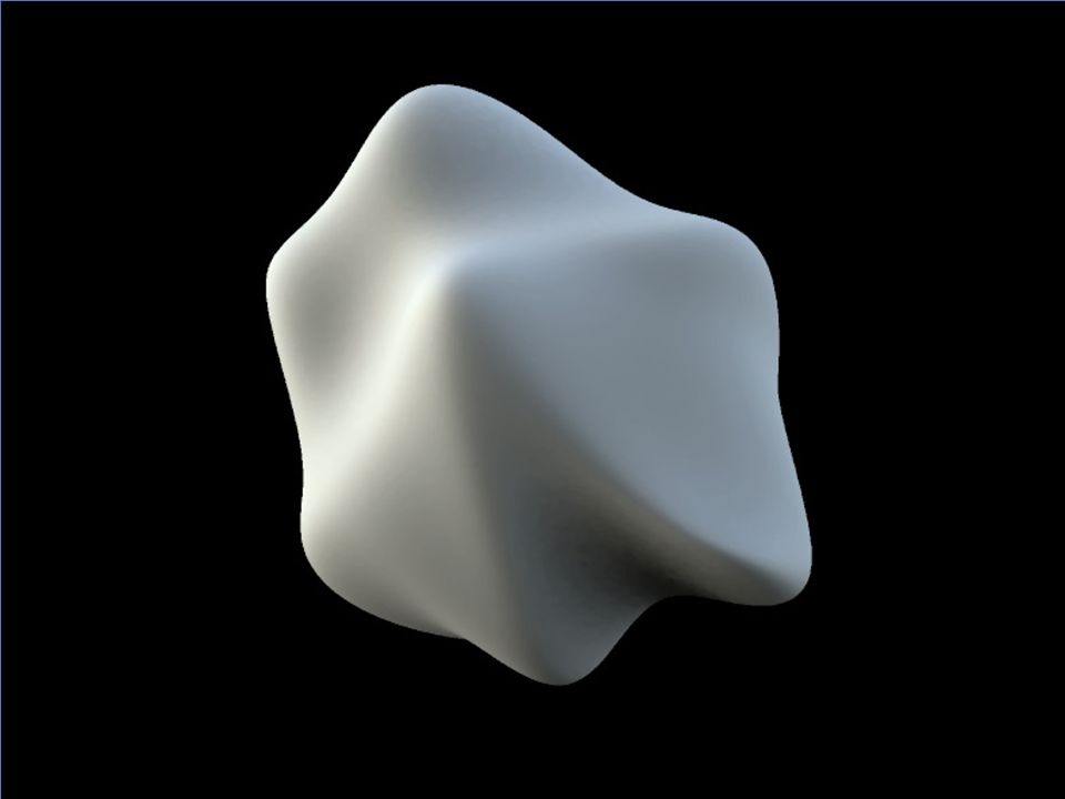 3D shape appears to be conveyed by the continuously varying patterns of orientation across the image of a surface