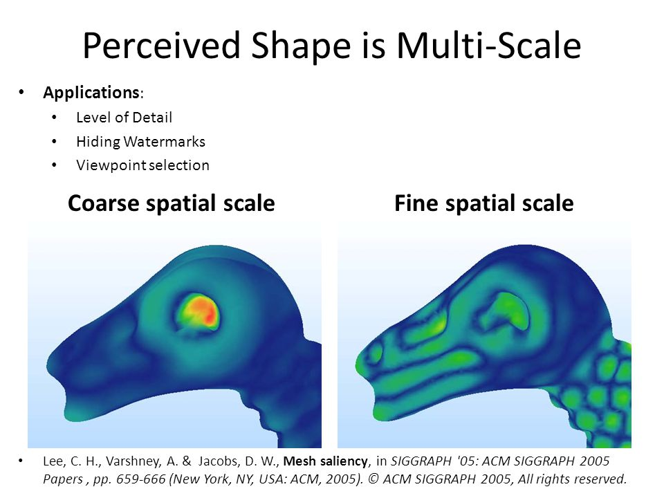 Perceived Shape is Multi-Scale Lee, C. H., Varshney, A.