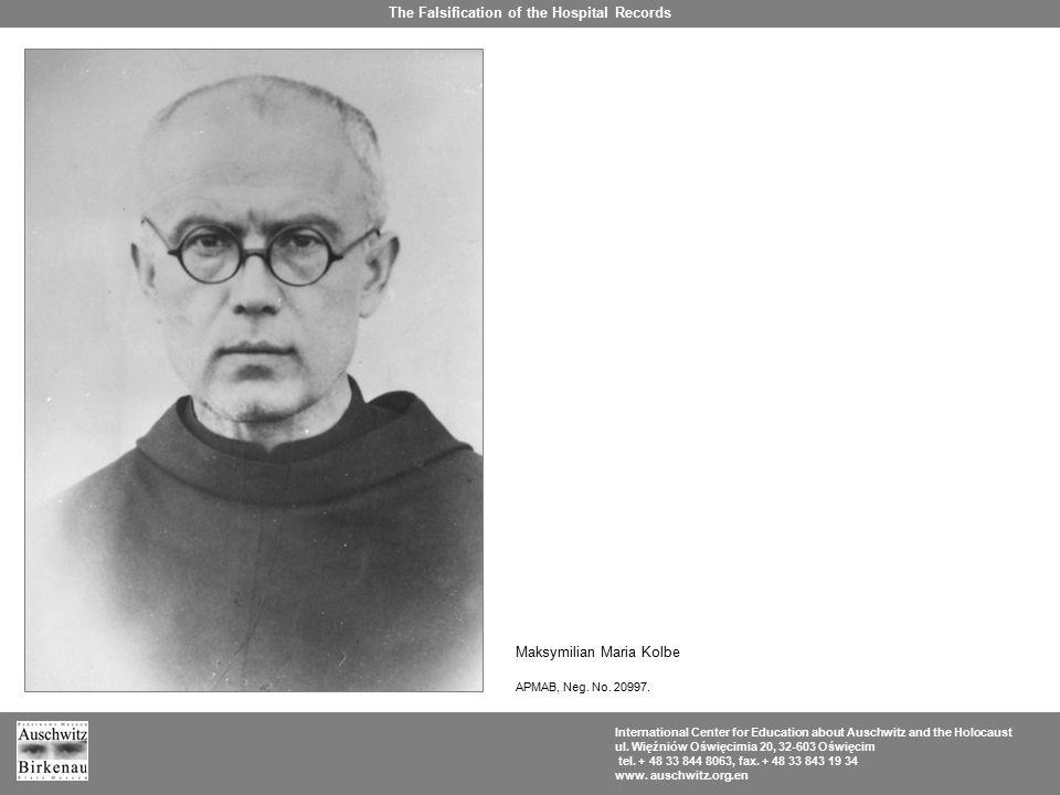 Death certificate of St.Maximilian.