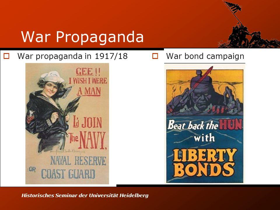Historisches Seminar der Universität Heidelberg War Propaganda  War propaganda in 1917/18  War bond campaign