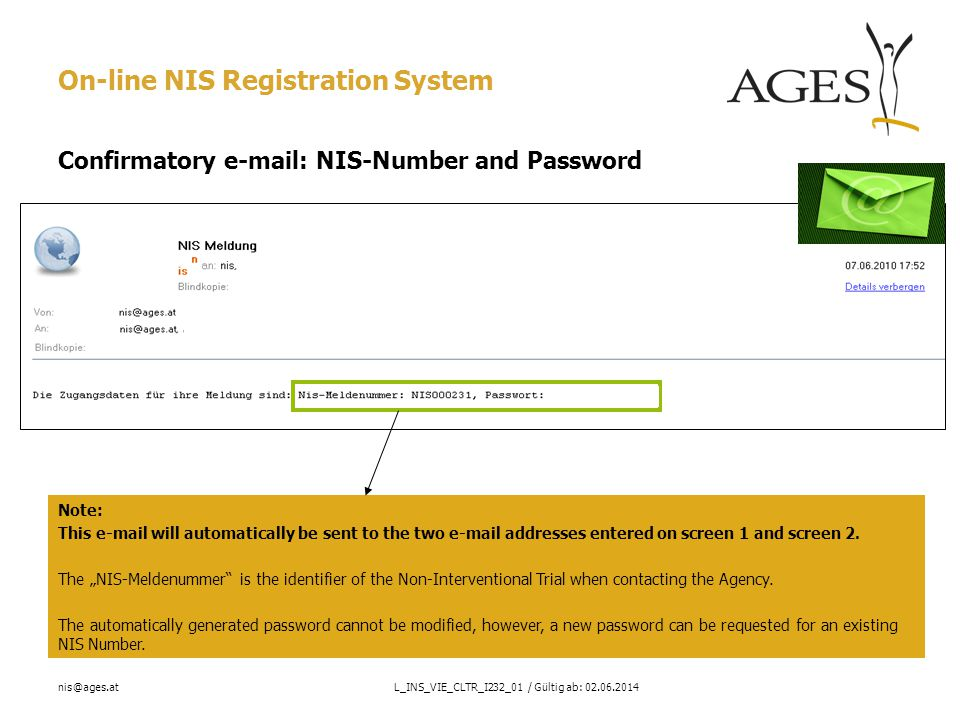 nis@ages.atL_INS_VIE_CLTR_I232_01 / Gültig ab: 02.06.2014 Screen 6: Update/delete PDF documents Delete Select Contract template Observation and evaluation plan EC opinion (if yes earlier)