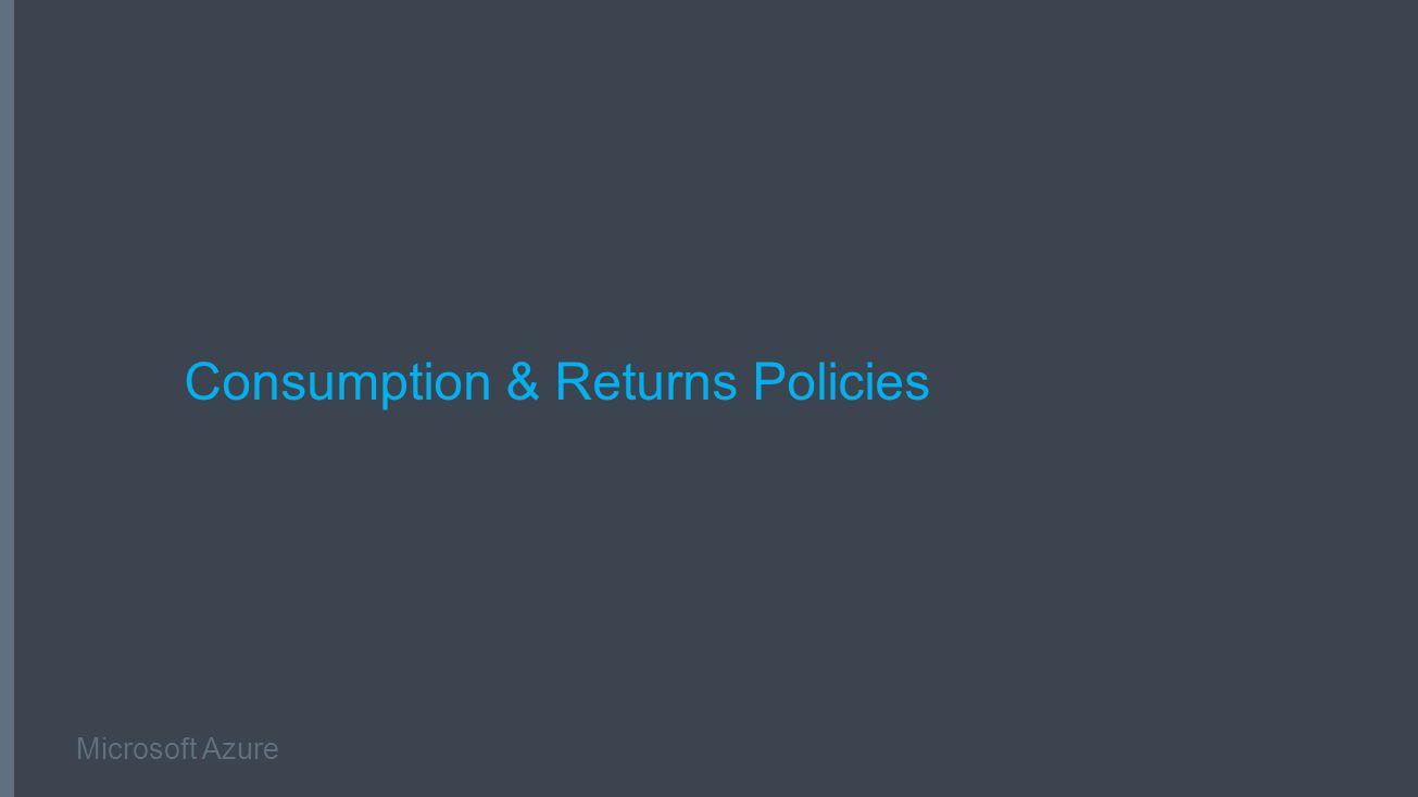 Microsoft Azure Consumption & Returns Policies