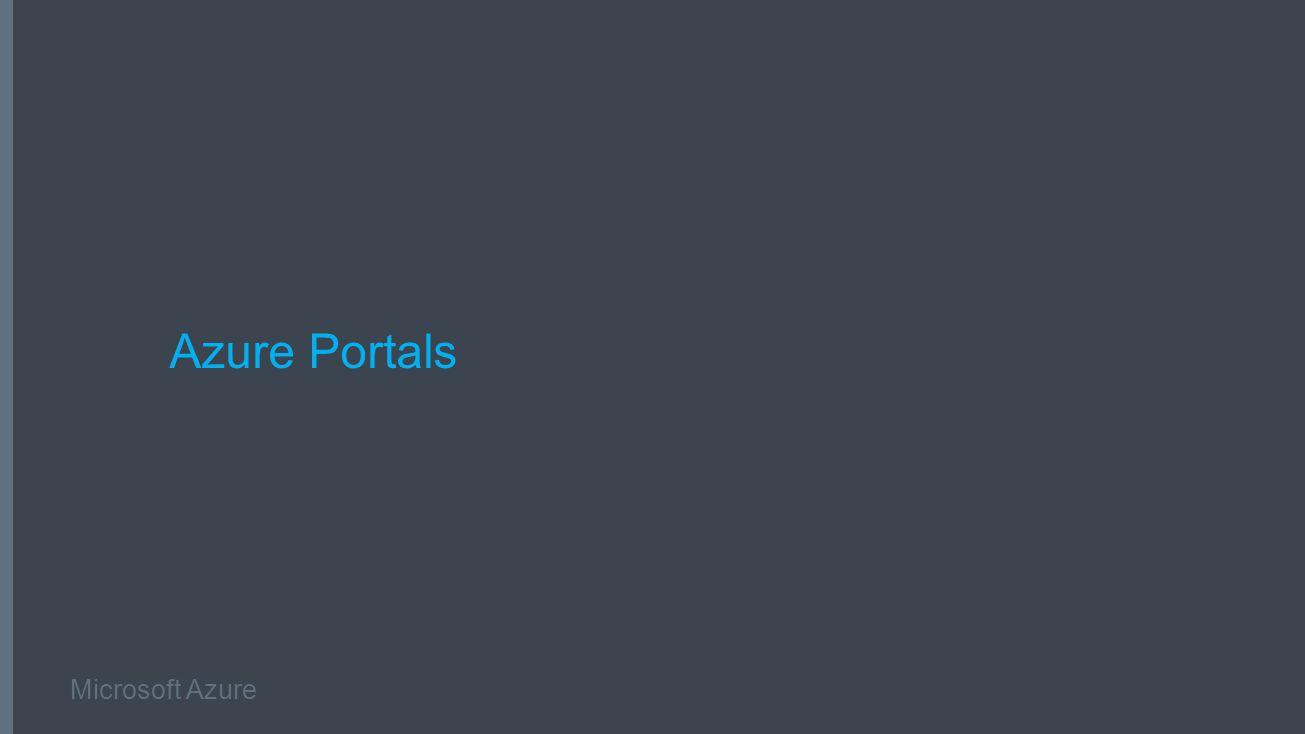 Microsoft Azure Azure Portals