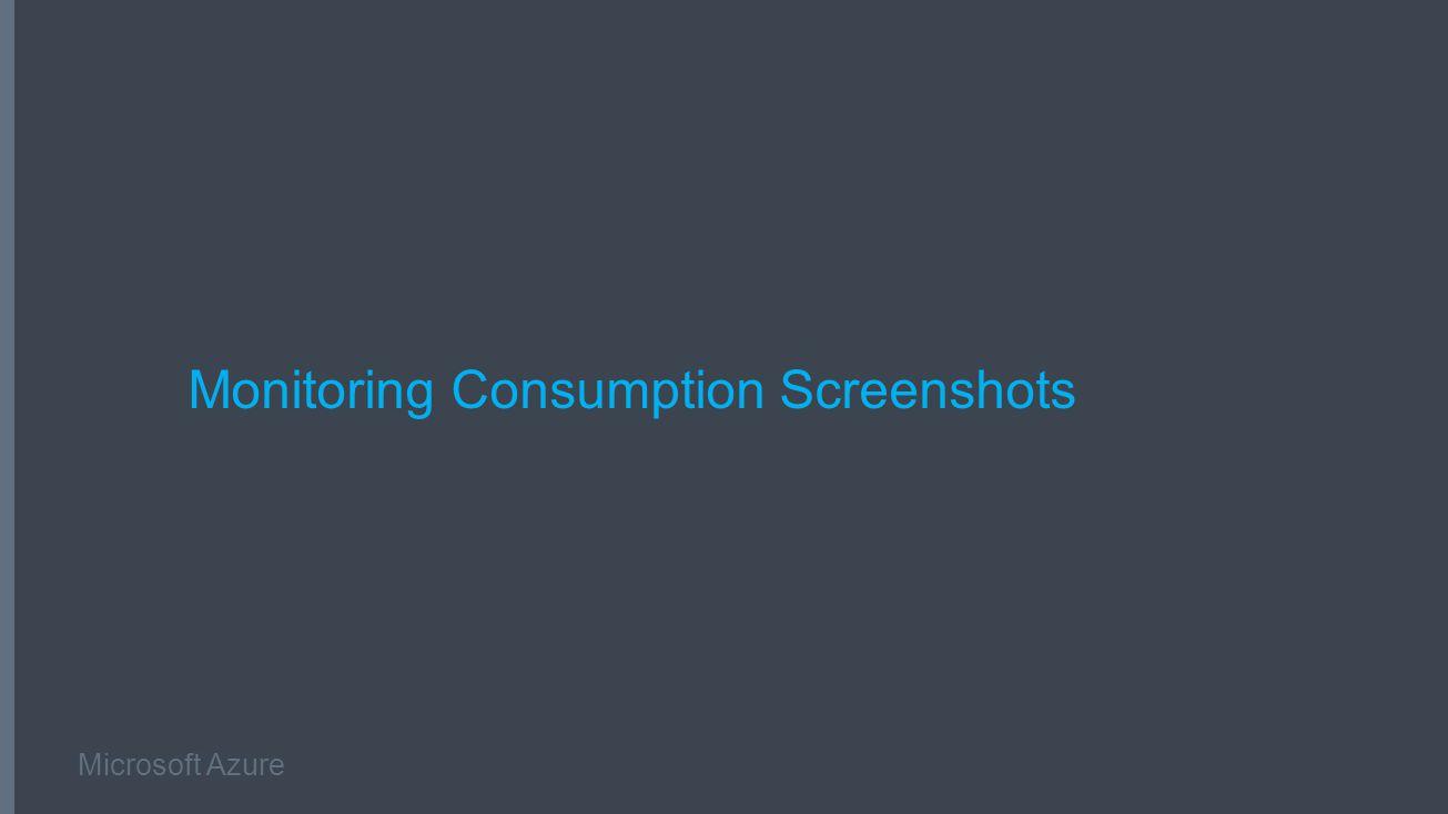 Microsoft Azure Monitoring Consumption Screenshots