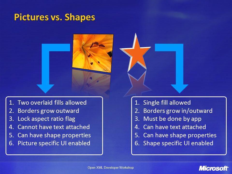 Open XML Developer Workshop Pictures vs.