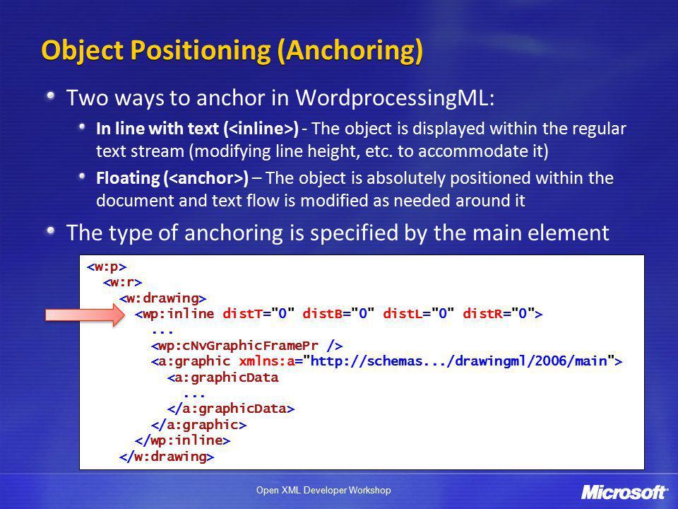 Open XML Developer Workshop... <a:graphicData...