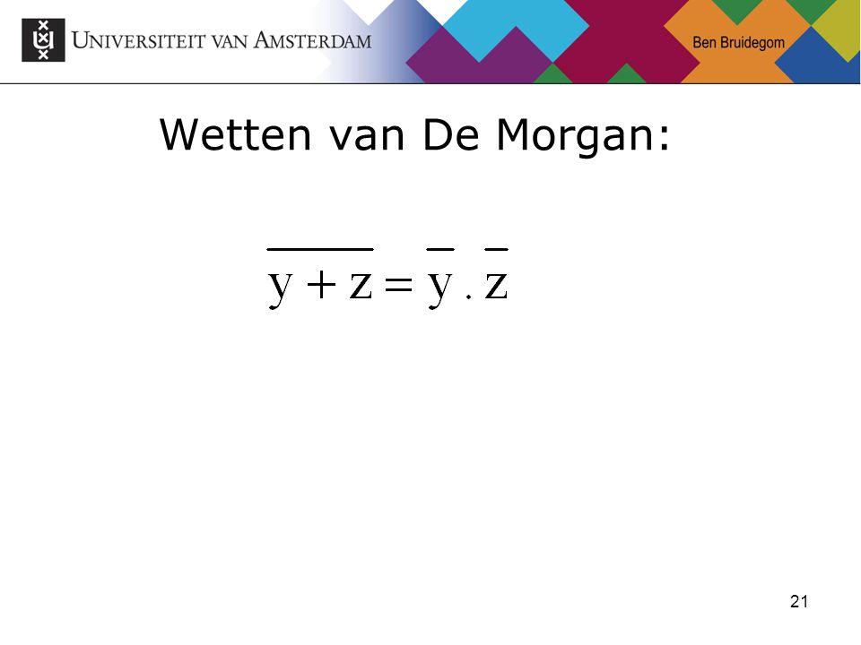 21 Wetten van De Morgan: