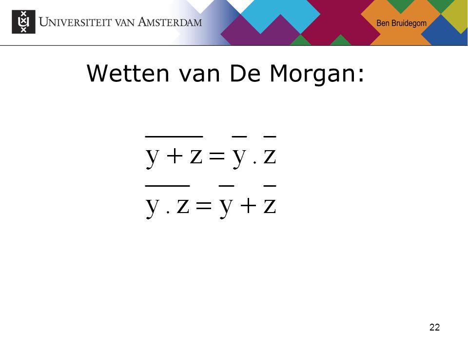 22 Wetten van De Morgan:
