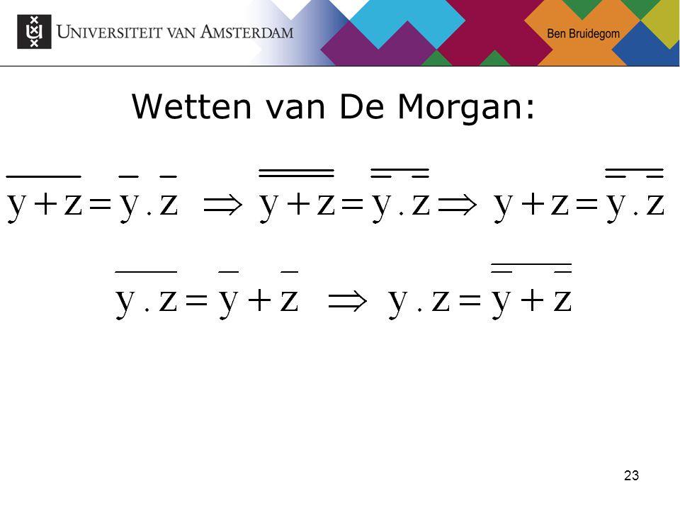 23 Wetten van De Morgan: