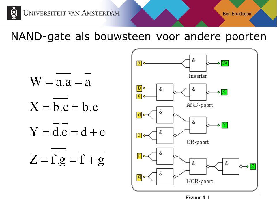 30 NAND-gate als bouwsteen voor andere poorten